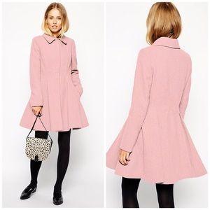 NWT ASOS Blush Pink Babydoll Coat
